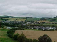 Kirk and Town Yetholm in Bowmont Water valley